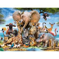 Afrikaanse dierenrijk Diamond Painting