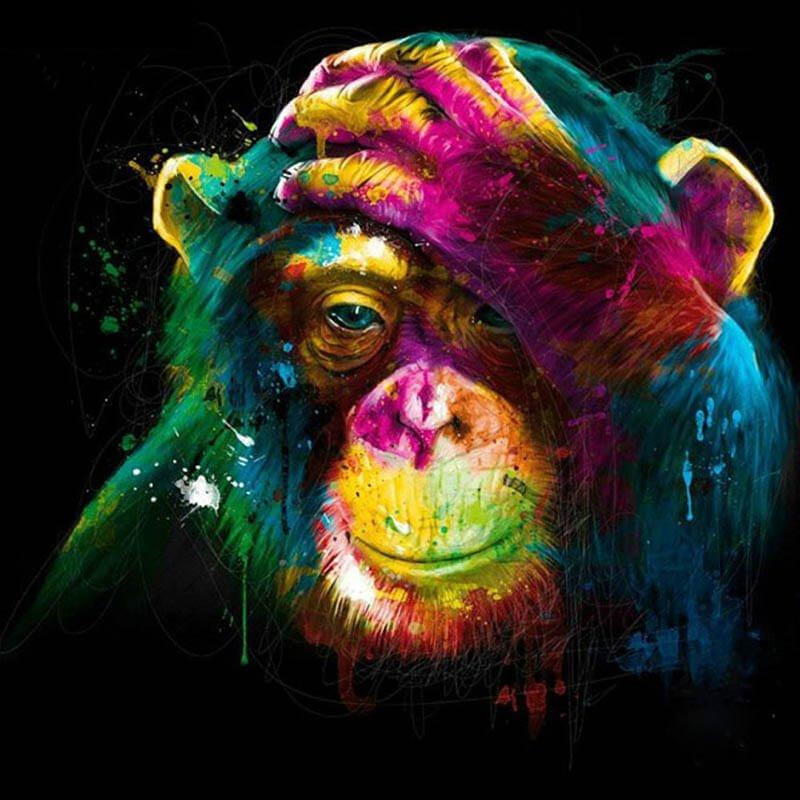 Kleurrijke aap