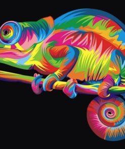 Kleurrijke kameleon