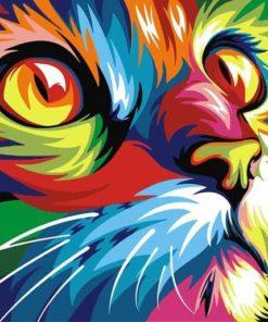 Kleurrijke kat / poes
