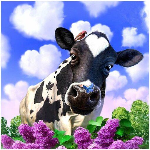 Koe met hart wolken en hyacinth