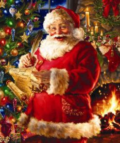 Lachende kerstman