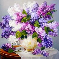 Lavendel bloemen Diamond Painting