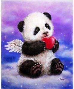 Pandabeer met hart