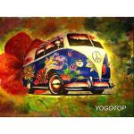 Volkswagen T1 Flower Power - Diamond Painting