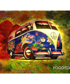 Volkswagen T1 Flower Power - Diamond Painting