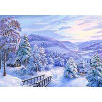 Winter bergdorp Diamond Painting