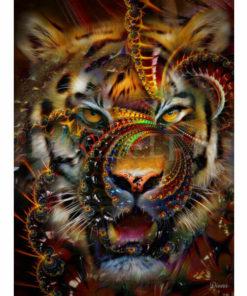 Artistieke leeuw Diamond Painting