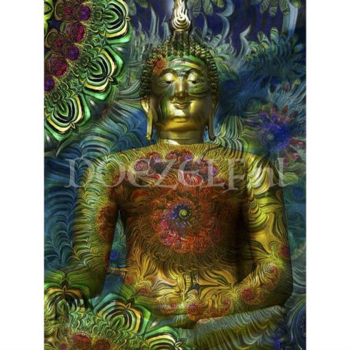 Flower Boeddha Diamond Painting