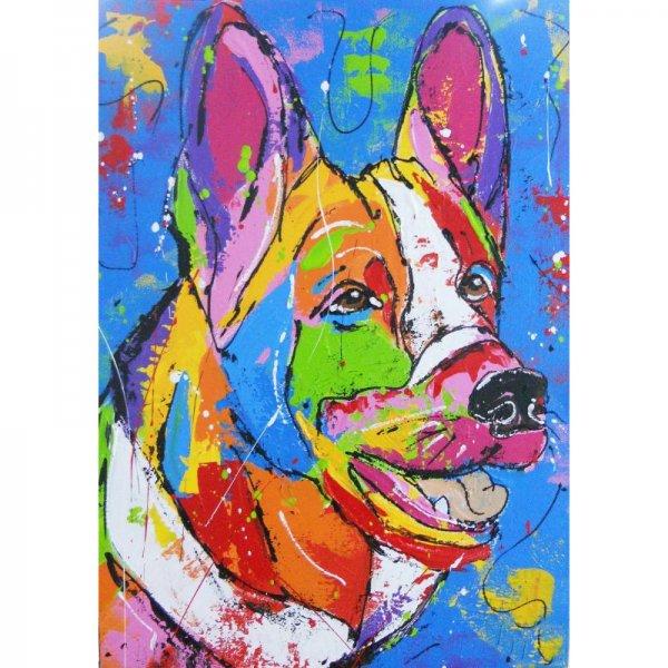 Kleurrijke wolf Diamond Painting