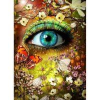 Oog bloemen en vlinders