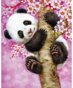 Panda in boom Diamond Painting