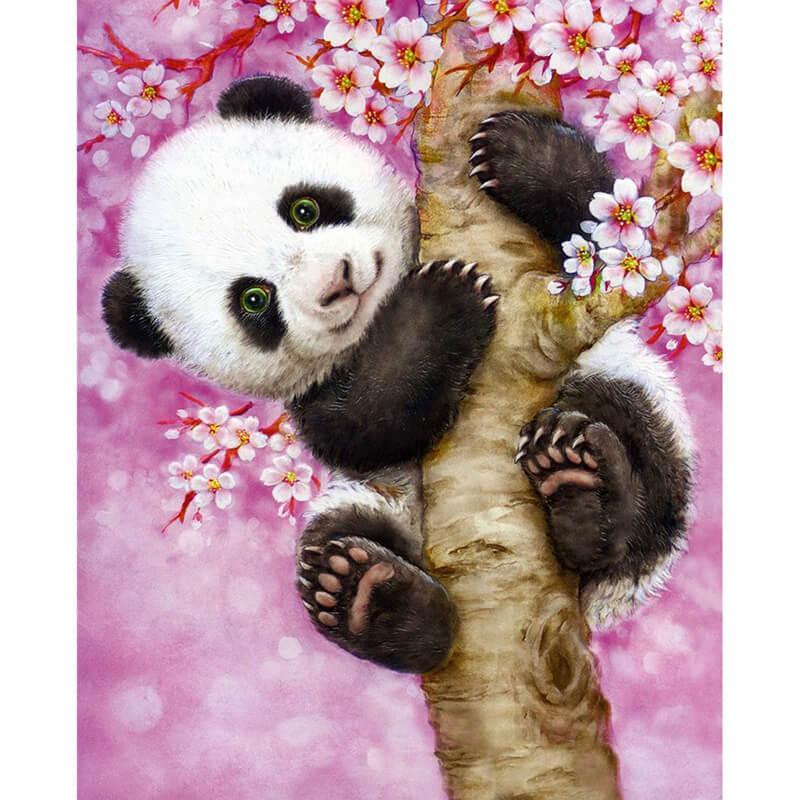 Panda in boom Diamond Painting