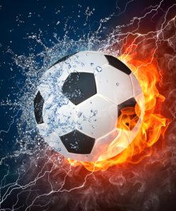 Vlammende voetbal