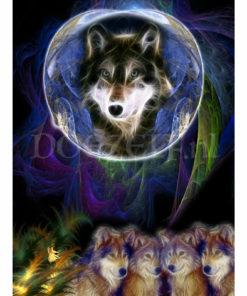 Ziel van een wolf Diamond Painting