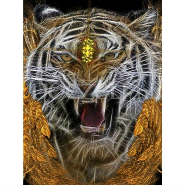 Krachtige tijger - Diamond Painting