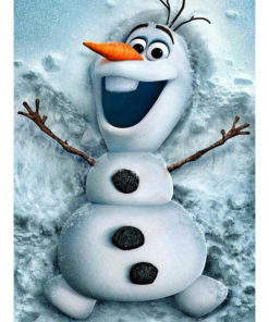 Olaf in de sneeuw, Frozen Diamond Painting