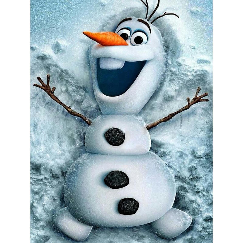 Olaf in de sneeuw, Frozen Diamond Painting