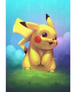 Pikachu op het gras Diamond Painting