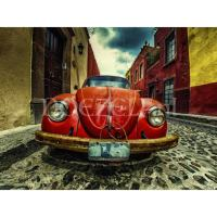 Rode Volkswagen kever - Diamond Painting