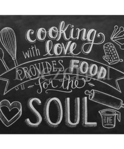 Cooking with Love schoolbord