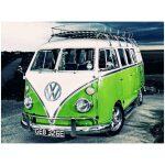 Groene Volkswagen T1 Diamond Painting