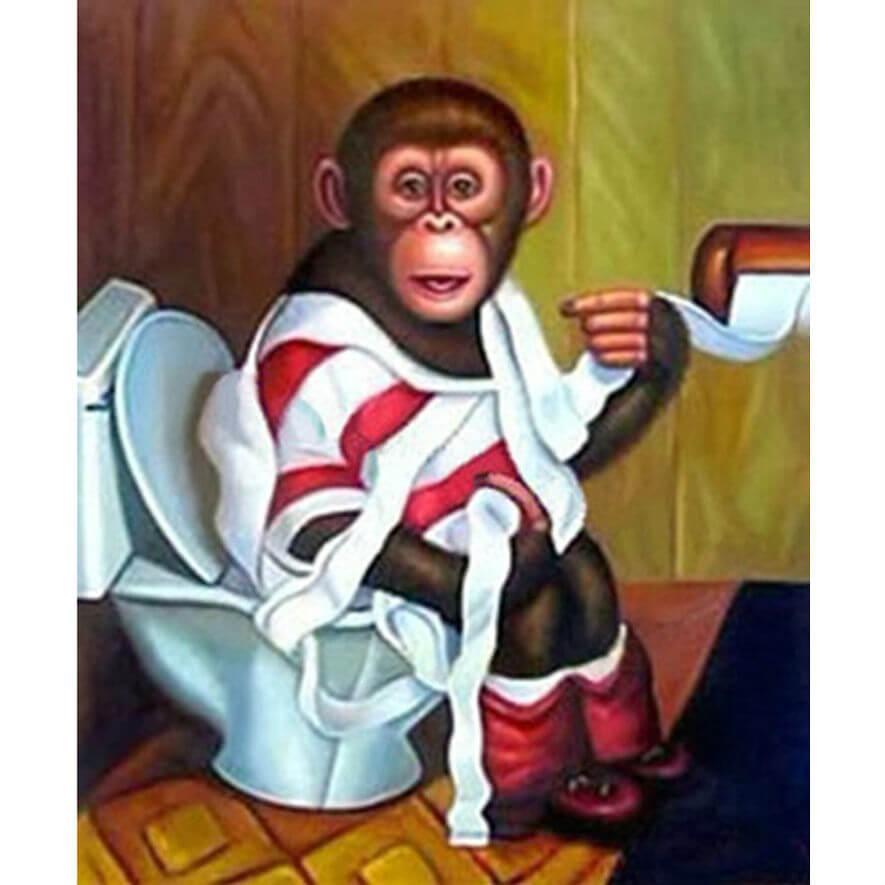 Aap op toilet Diamond Painting