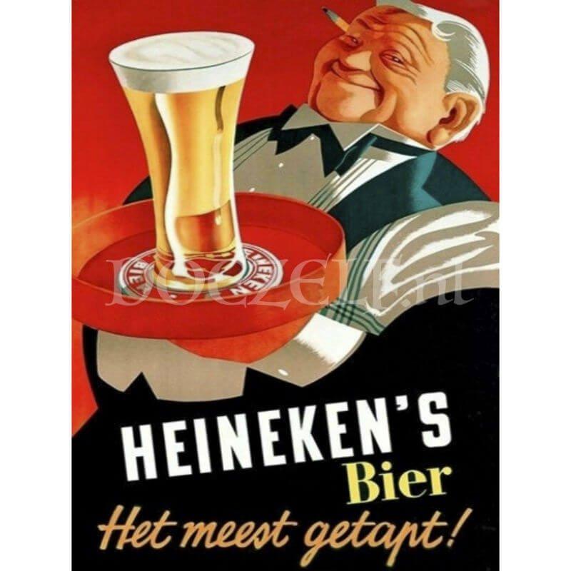 Heineken's bier muurplaats Diamond Painting
