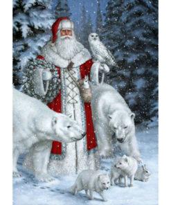 Kerstman met ijsberen Diamond Painting