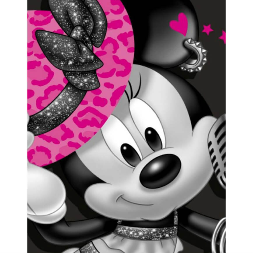 Minnie roze hoed Diamond Painting