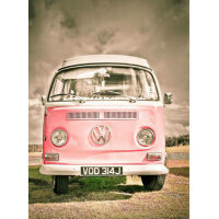 Roze Volkswagen T1 Diamond Painting