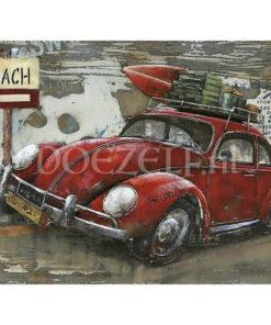 Volkswagen Kever naar het strand