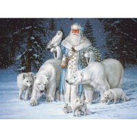 Witte kerstman Diamond Painting