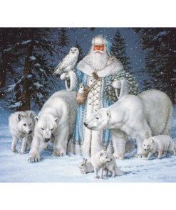 Witte kerstman Diamond Painting