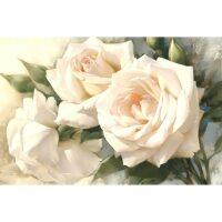 Witte Rozen - Diamond Painting