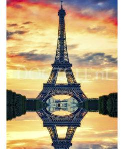 Eiffeltoren Spiegelbeeld Diamond Painting