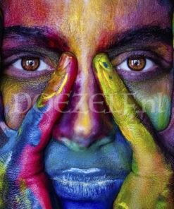 Gekleurd gezicht Diamond Painting