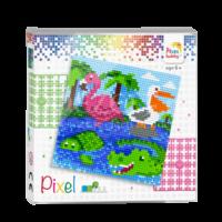Pixelhobby set Dieren aan het water