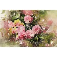 Schilderij bloemen Diamond Painting