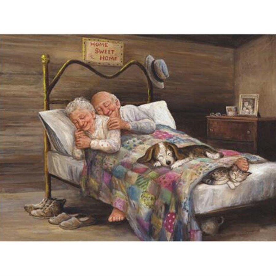 Oma Und Opa Im Bett