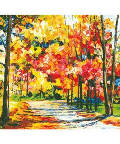 Herfst in Park Schilder op nummer