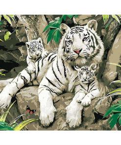Witte tijgers - Schilder op nummer