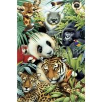 Dieren van de jungle Diamond Painting