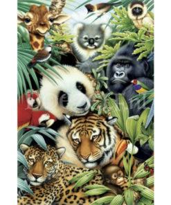 Dieren van de jungle Diamond Painting