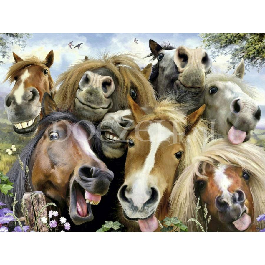 Paarden pret Diamond Painting
