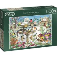 Falcon Winter Garden Birds Puzzel 500 stukjes