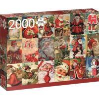 Vintage Santa's Puzzel 2000 stukjes