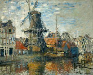 De molen aan de Onbekende gracht van Monet Diamond Painting