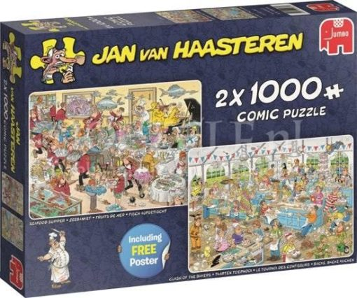 Jan van Haasteren Eet- en Bakfestijn 2in1 Puzzel 2×1000 stukjes