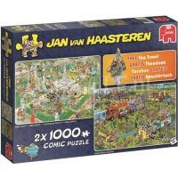 Jan van Haasteren Food Festival 2in1 Puzzel 2x1000 stukjes